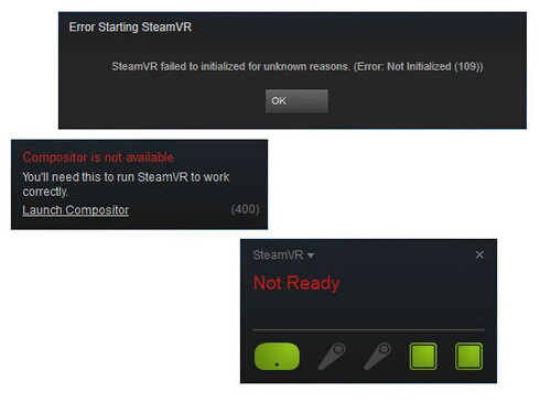 steam vr not ready